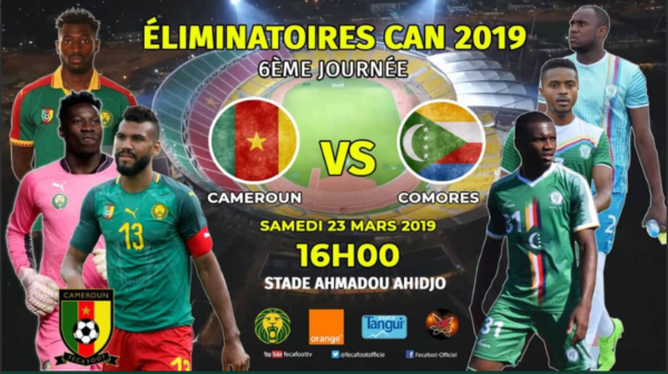 Eliminatoires CAN 2019 – Cameroon 1 Comores 0