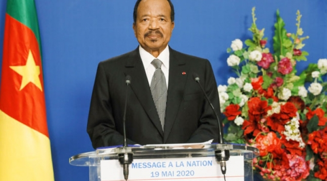 Cameroun – Message de Paul Biya pour la fête du 20 mai : covid19 au menu