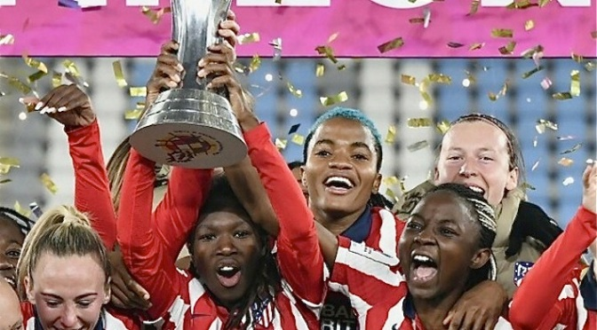 Nchout Ajara wins spanish supercup with atletico